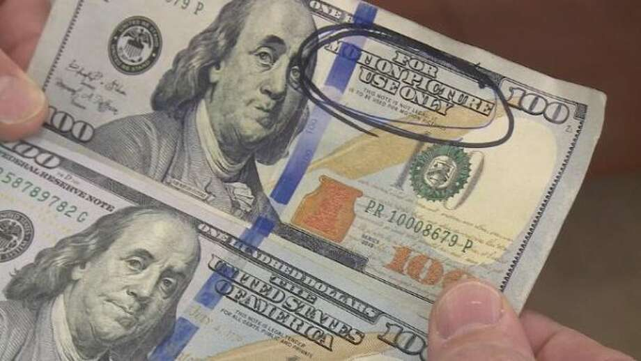"""Police say fake bills are popping up all over northern Michigan. Some of the bills say """"for motion picture use only."""" (Courtesy Photo)"""