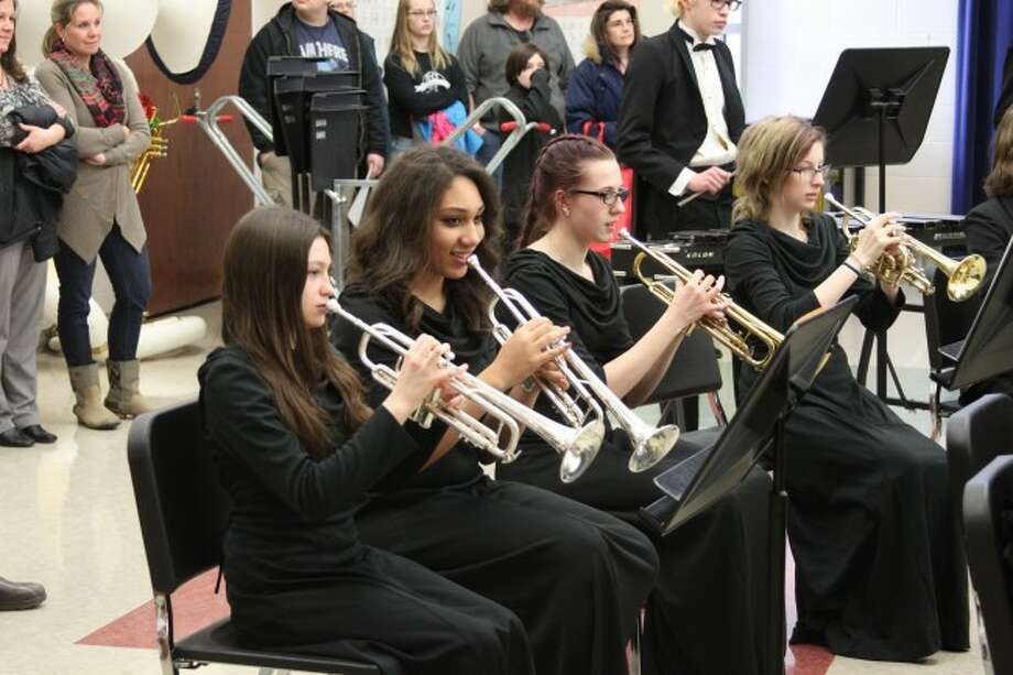 Members of the Manistee High School Symphonic Band took part in the Michigan School Band and Orchestra Association Festival on Thursday.