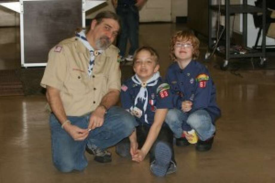 Boy Scouts often involves whole families. Phil Coryell, Jack Coryell's father, was a former Cub Scoutmaster. Pictured are Phil Coryell and Jack Coryell, and Ethan Hunt. The boys started Tiger Scouts together and last year worked on their Eagle Scout project together.