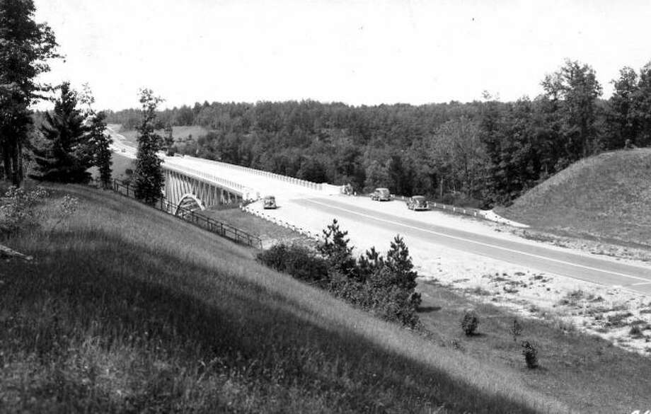Cooley Bridge located on M-55 was a popular spot for picnics and recreation when it opened in 1935.