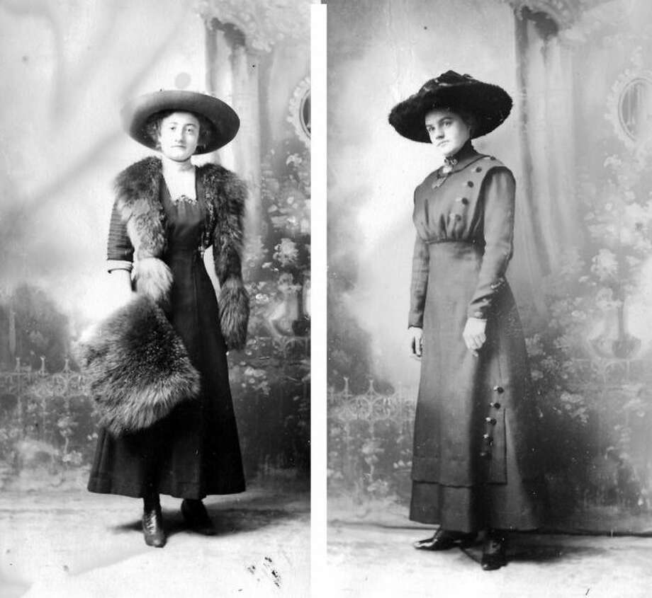 Hilda (left) and Hannah (right) Sandgren pose for a photograph (in the museum's archives labeled as Costume Portraits Album 11, Photo 455) in 1911 in Manistee. The Sandgren sisters and their immediate family were struck by the loss of several family members.