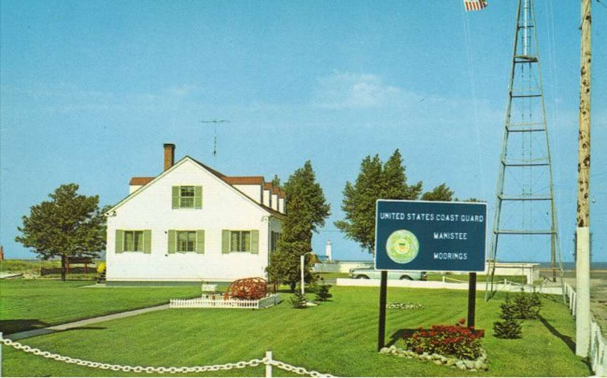 This is the way the United States Coast Guard Station Manistee used to look before the current building was constructed at that location.