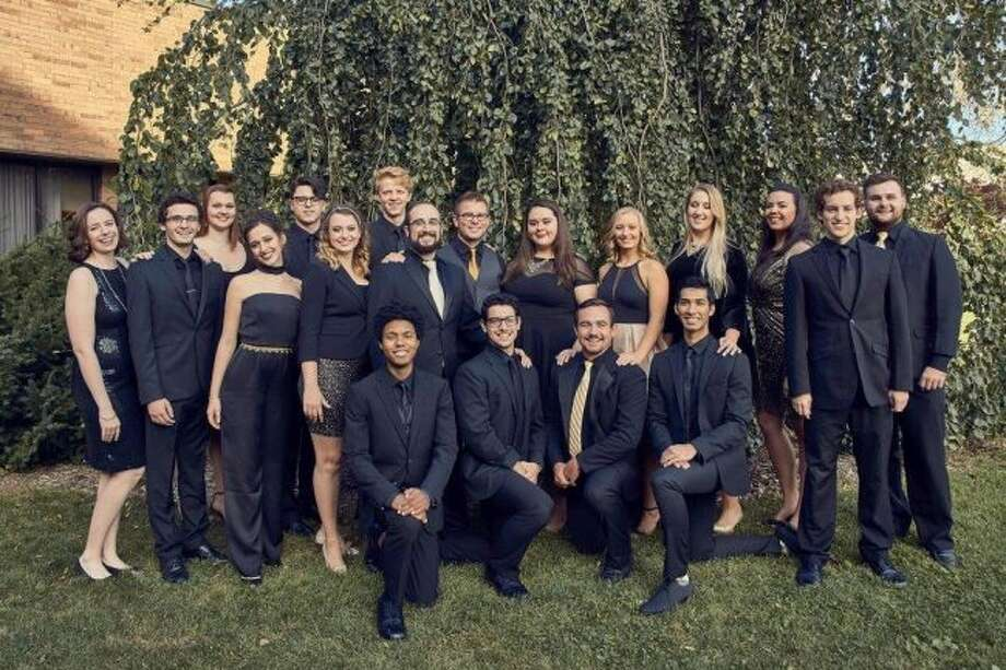 Gold Company, Western Michigan University's award-winning vocal jazz ensemble, is playing at West Shore Community College. (Courtesy Photo)