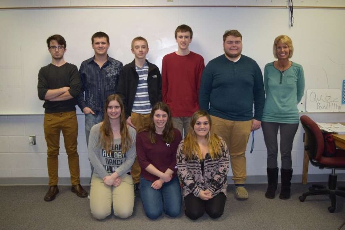 The Onekama Consolidated Schools Quiz Bowl team finished in second place at the West Michigan D League tournament. The team was coached by Jennifer Bromley and team members included Spencer Petroskey, Trever Fink, Kiara Bromley, Michelle Haske, Kyle Peterson, Jarrod Berard, Raelynn Danks and Benjamin Johnson.