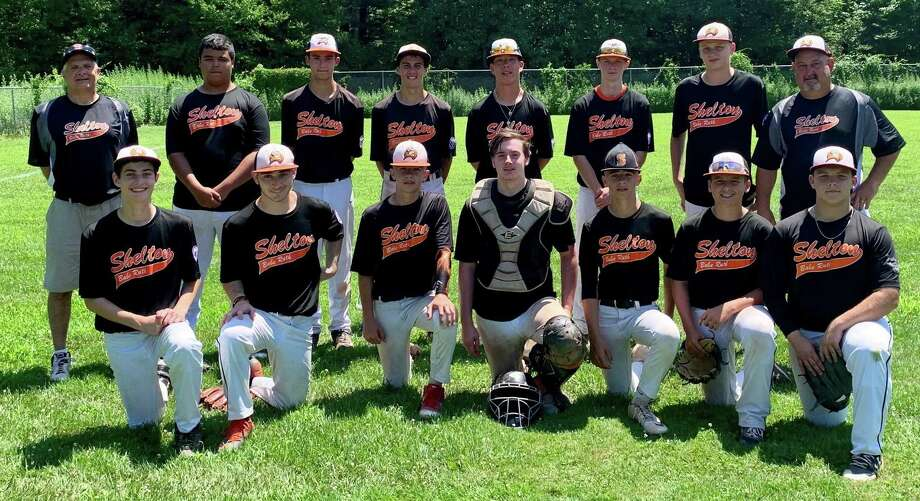 Shelton Babe Ruth's 15U travel team earned the Jimmy Fund championship. Team members (front row) are: John Horahan, John Riccio, Ryan Hafele, Devin Zak, Andrew Hafele, Ryan Tomey and Carson Mckinnion; (second row) coach Mike Malvasi, Manny Gleen, Walker Toth, Joseph Ciccone, Colin Guzek, Tommy Peters, Ryan Blakslee and manager Mike Riccio. Photo: Shelton Little League / Contributed Photo / Shelton Herald