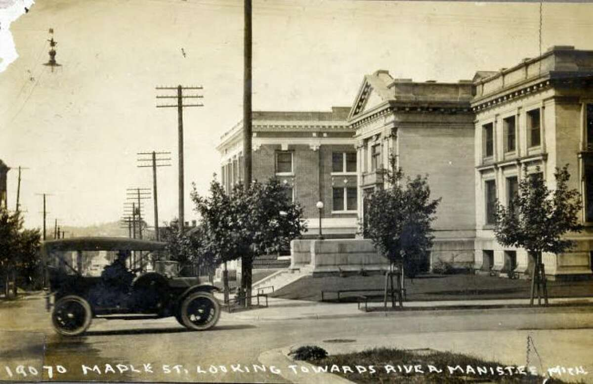 This 1920s view down Maple Street was taken in front of the Ramsdell Theatre.