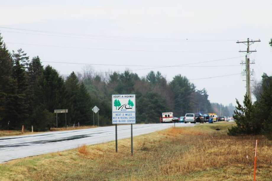 A portion of U.S. 31 between Hoague and Koenig roads was shut down in Free Soil Township on Tuesday due to a shooting. (Ashlyn Korienek/News Advocate)