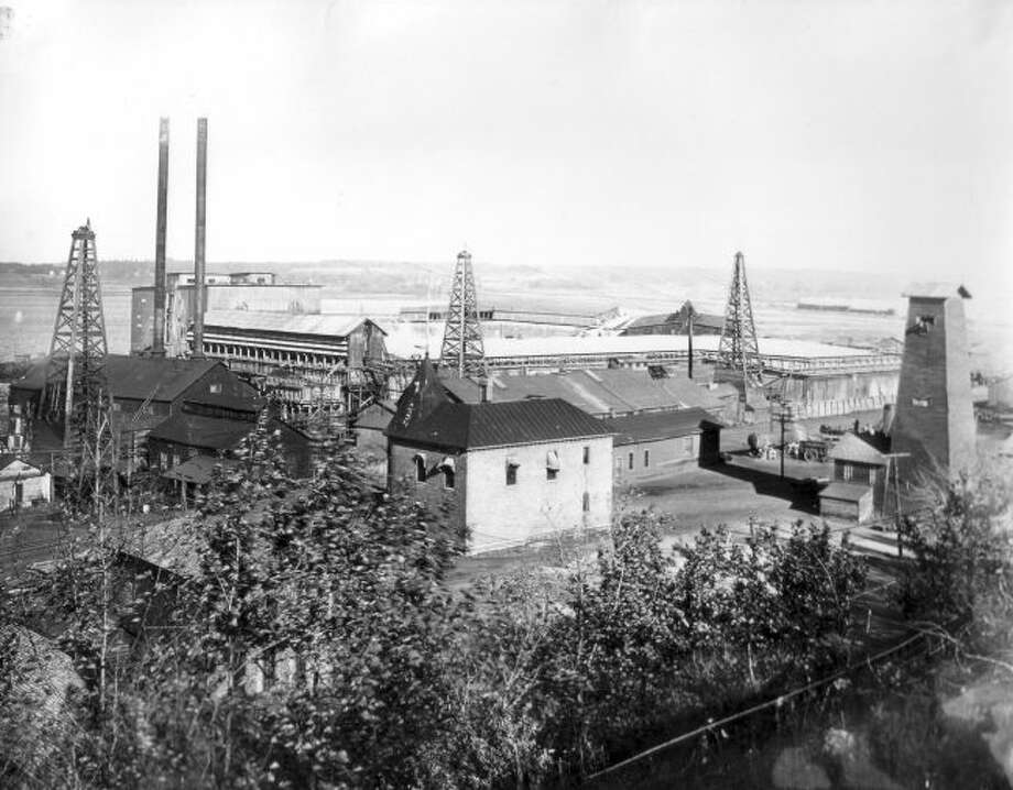 The R.G. Peters sawmill and salt plant that was located in Manistee is shown in this photograph from the 1890s.