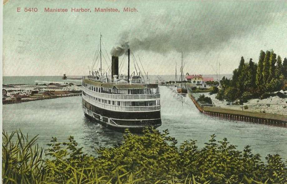 Passenger vessels of this kind were common visitors to the Manistee harbor in the 1890s and early 1900s as it was a popular mode transportation around the Great Lakes.