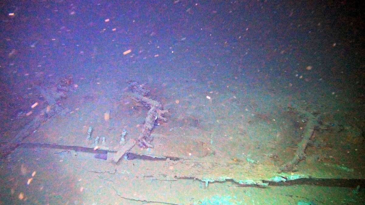 Site 15470 iron knees captured by ROV Odysseus. Source: National Oceanic and Atmospheric Administration