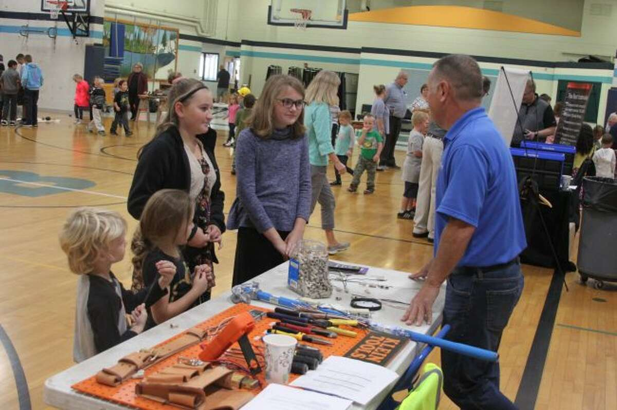Interacting with the presenters was a big part of the Trades Fair as students had the chance to ask them questions about their profession.