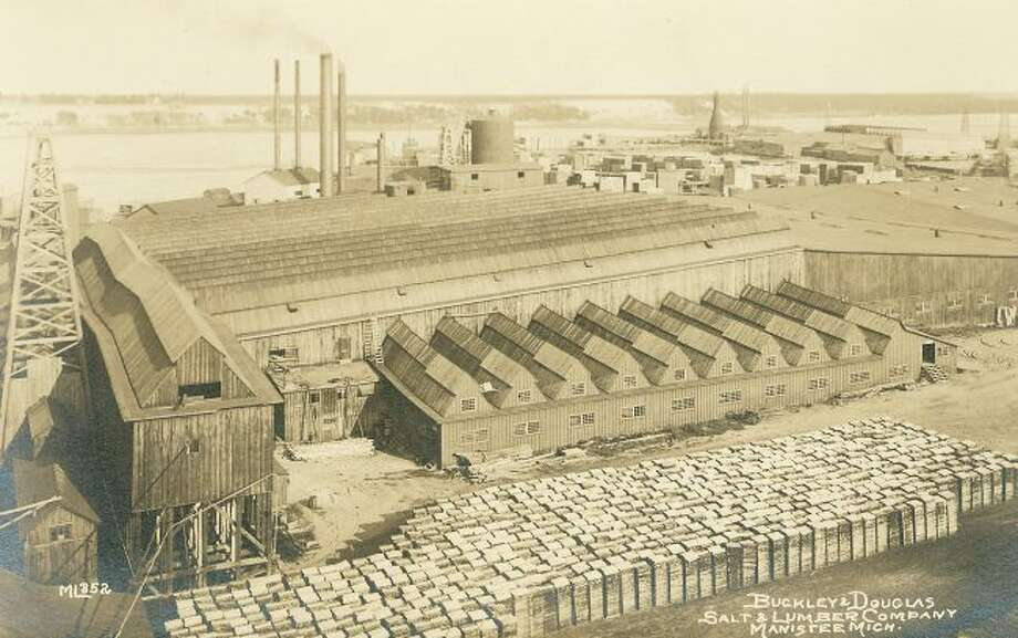 The Buckley and Douglas Salt and Lumber Company was large business located on Manistee Lake in the late 1880s.