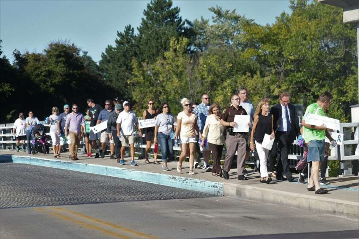 The annual Suicide Prevention Walk was held on Sept. 12, 2018, through the City of Manistee. Another walk will be held this year on Sept. 17. (Dylan Savela/News Advocate)