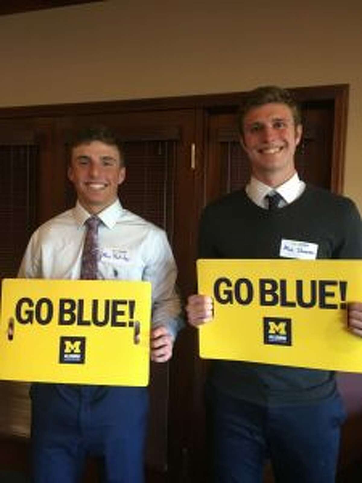 Other area University of Michigan scholarship winners were (left to right) Alex Netzley and Max Stoneman. (Courtesy photo)