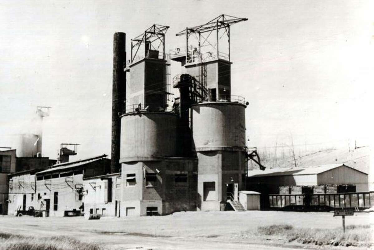 The Standard Lime and Stone Company that was located on the east side of Manistee Lake is shown in this photo from the late 1950s.