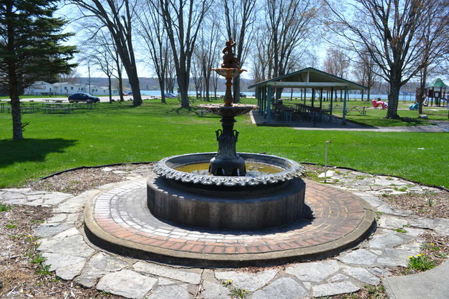 The fountain has been in place at Onekama Village Park for 70 years and has started to show some signs of age. It was recently refurbished. (Courtesy photo)