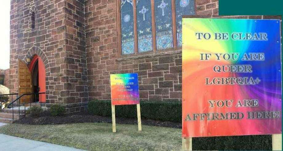 "Police said a Tennessee man broke into a Milford church on July 1, 2019 and damaged an office door because he believed the church and its pastor ""were supporting and pushing the LGBT agenda."" Charles Yarbrough, 30, of Nashville, was charged with a hate crime, burglary and criminal mischief. Mary Taylor Memorial United Methodist Church in downtown Milford has made a point of proclaiming that it welcomes members of the gay community. Since February, a colorful sign in front of the church has announced, ""To be clear if you are queer LGBTQIA+ you are affirmed here!"" On July 25, 2019, Yarbrough was charged again with hate crime for a June 27 vandalizing of the church. Photo: Contributed Photo"