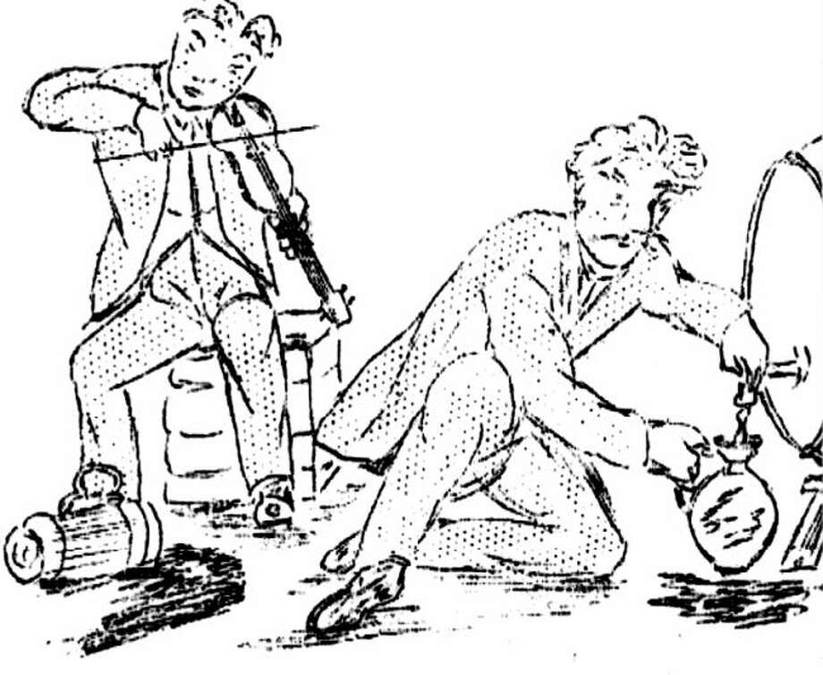 An illustration of Christian Hauser's reminiscences of early Manistee.