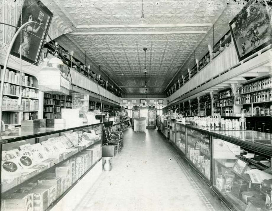 A view of the inside of The A.H. Lyman Drug Company, which was located inside the Manistee County Historical Museum.