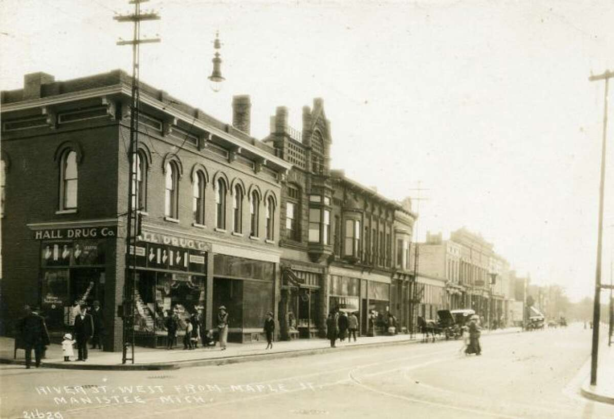 This late 1800s photograph is looking west on River Street from the Maple Street intersection.