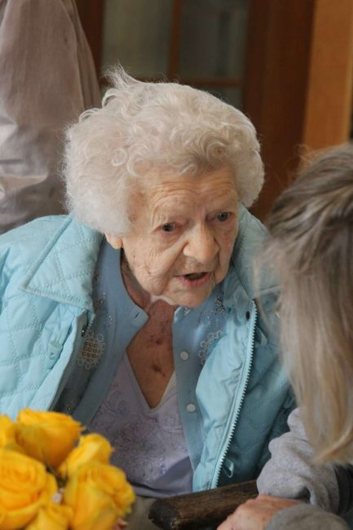 Barbara Blahut is still very active for being 105 years old and carries a great sense of humor which was evident in her talks with family and friends who attended her birthday celebration on Saturday.
