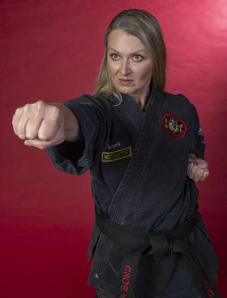 Actor Laura Metzger has worked as a stage combatant and fight choreographer, which align with her interest in martial arts. Photo: Tim Fischer/Midland Reporter-Telegram