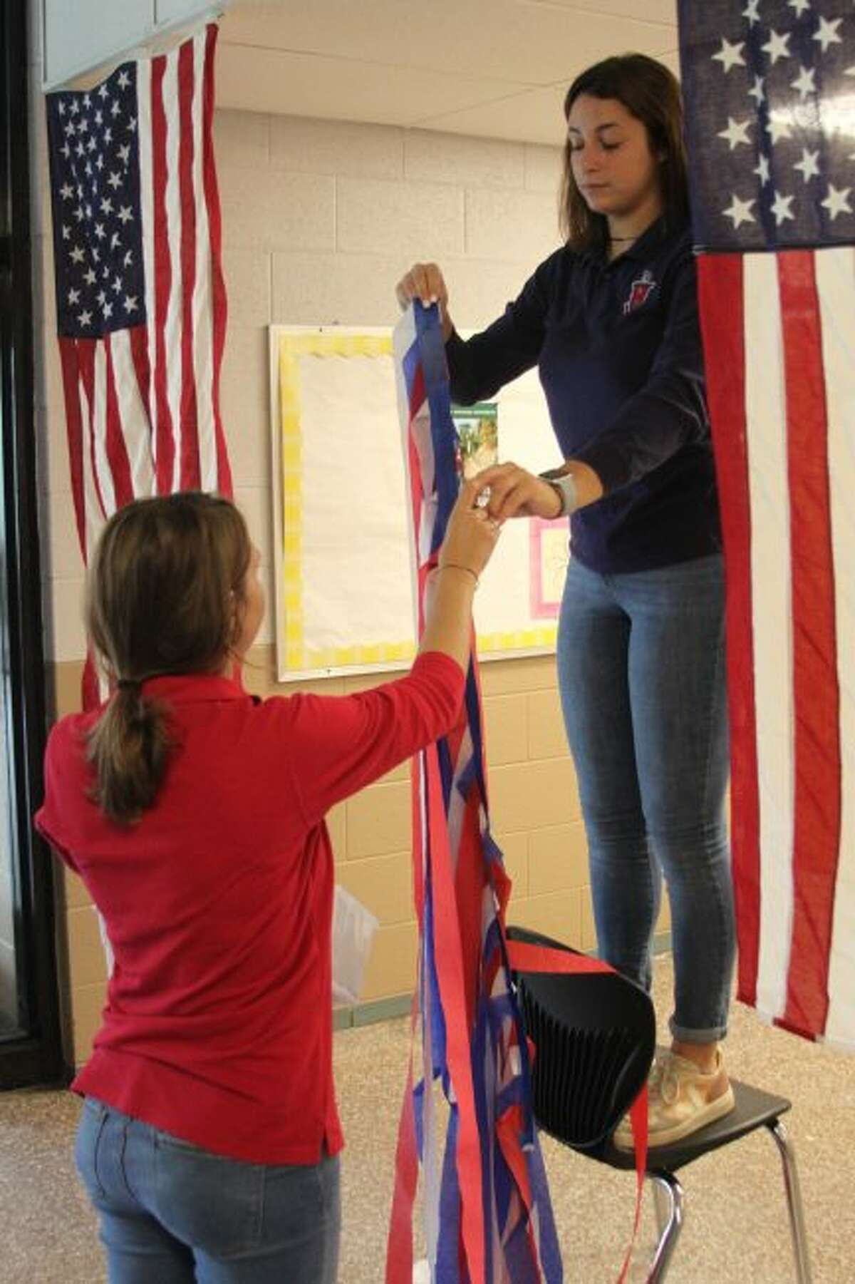 Manistee Catholic Central students were busy on Friday decorating the hallways in preparation for this week's homecoming activities. All week long the students will be taking part in fun activities to prepare with Friday's game against the Onekama Portagers.