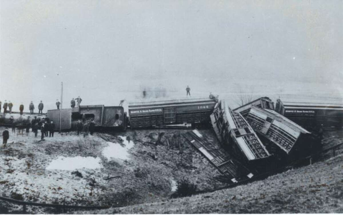 Train derailments happened quite frequently in Manistee County back in the decade of the 1890s and earlier.