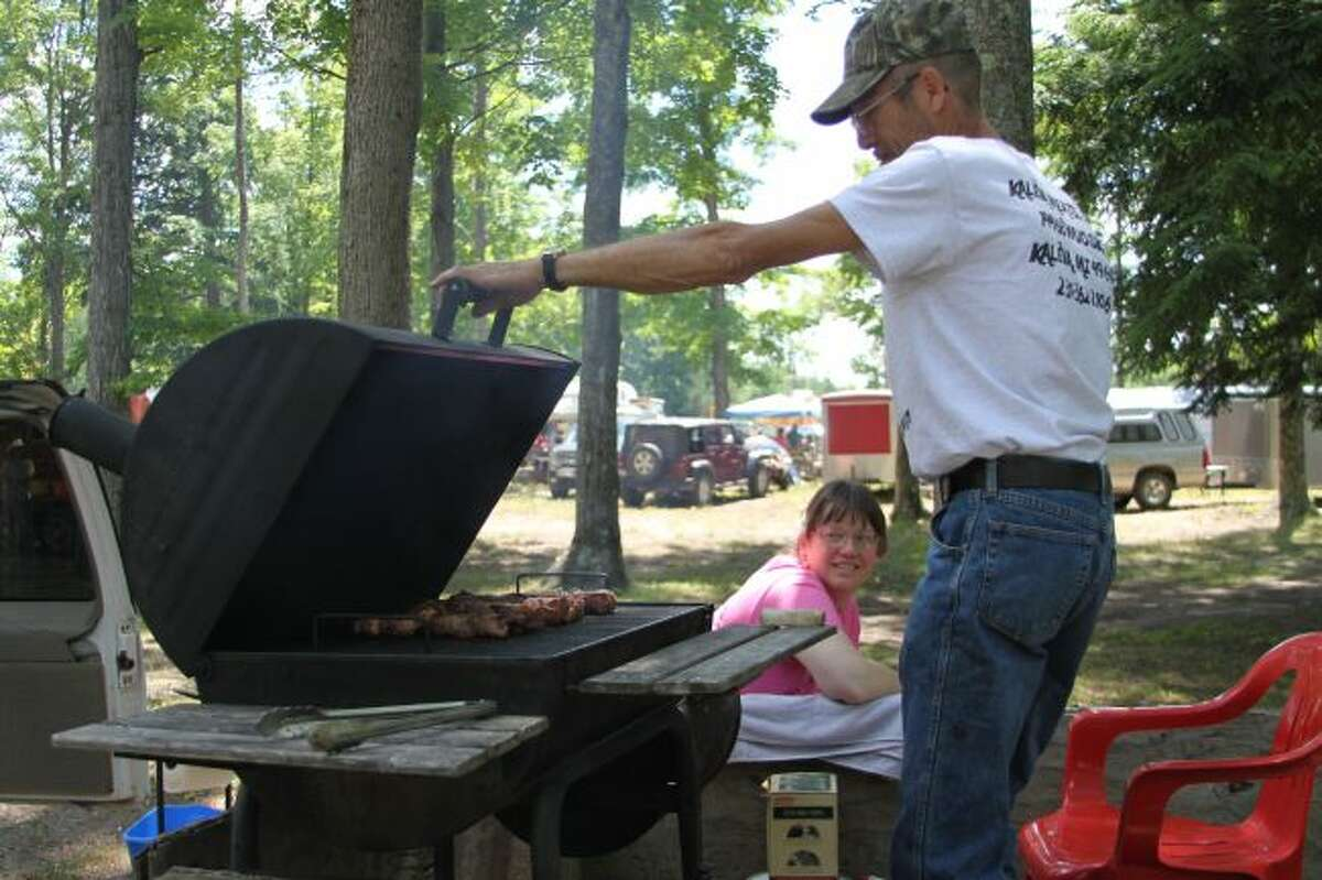 Four teams entered the barbecue competition at Kaleva Days this year.
