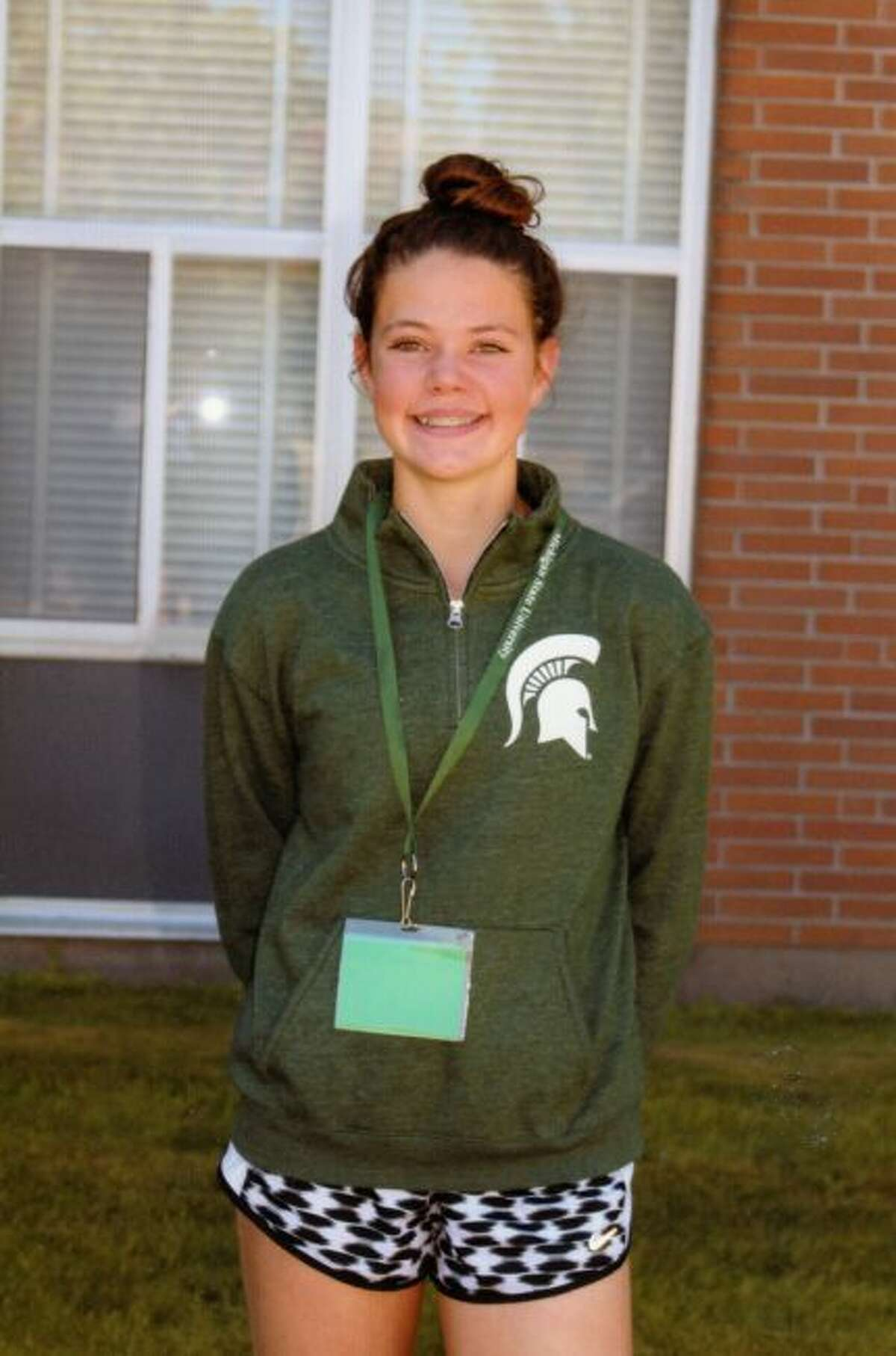The Manistee Kiwanis Club awarded Emily Gardner a scholarship to attend Exploration Days at Michigan State University. During the camp she studied dairy goat judging and bunny basics.