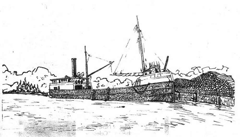 No photo of the J.E. Rumbell exists, but this drawing is believed to closely resemble the vessel.