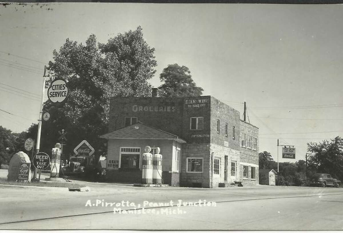 The store and gas station that was located at Peanut Junction is shown in this photograph taken in the 1950s.