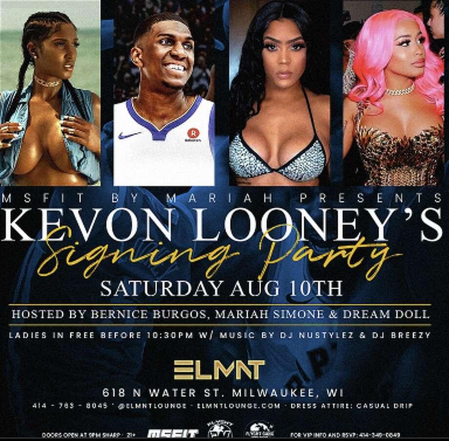 Kevon Looney is hosting a signing party at ELMNT Nightclub in Milwaukee. Photo: ELMNT Nightclub