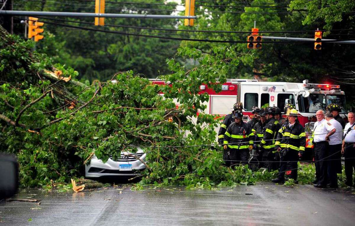 A Southington man was killed by a fallen tree and wires on the Fairfield-Bridgeport line on July 17.