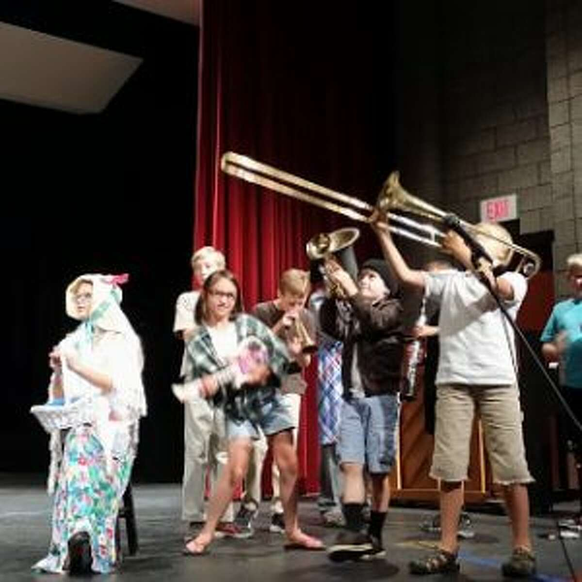 Children perform during last year's Manistee Children's Theater Workshop, developing stage skills and learning how to work with others to create a performance.