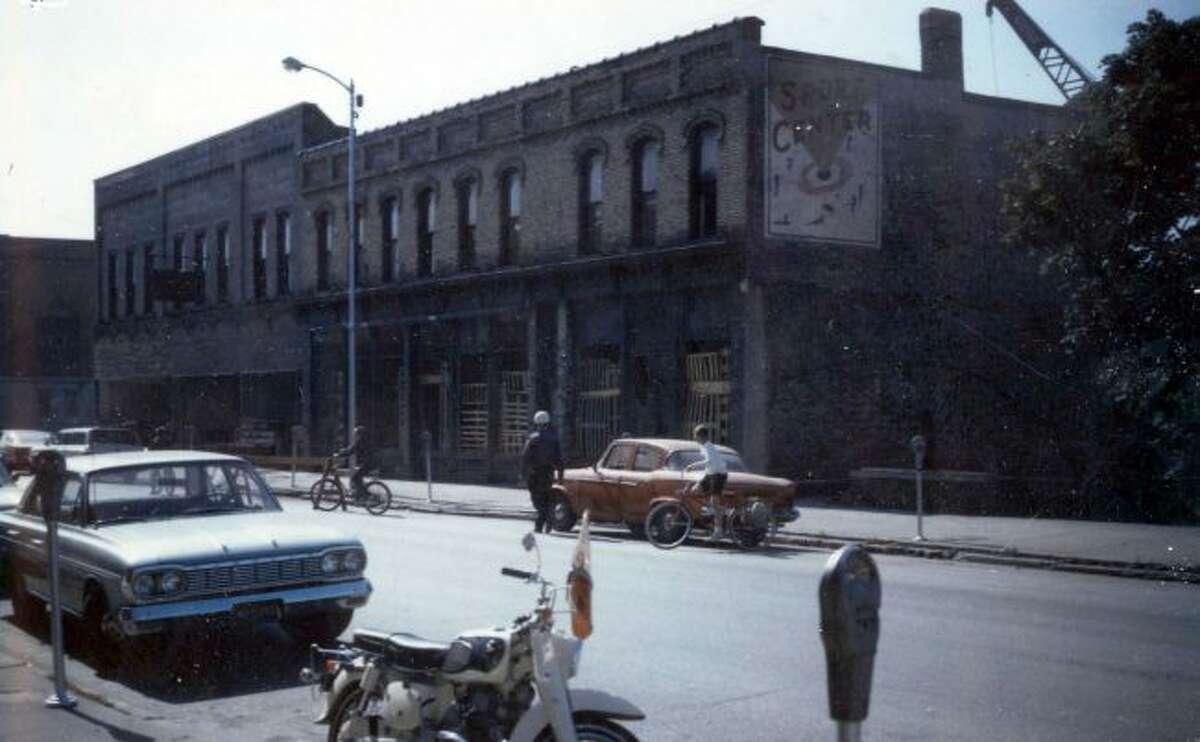 The above photo was taken on July 5, 1965 just before the demolition of the Van Buren blocks.