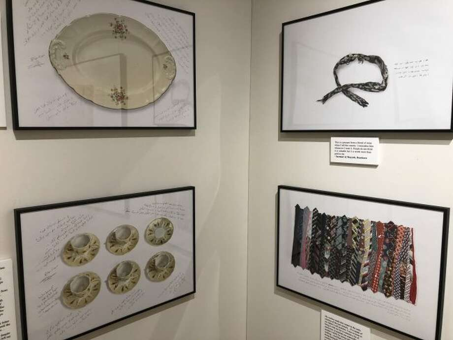 """Shown are some of the objects in James Lommasson's exhibit """"What We Carried"""" that opens the Humankind series at West Shore Community College. The year long Humankind series will focus on the Middle East and feature literature, art, music, speakers and discussions."""