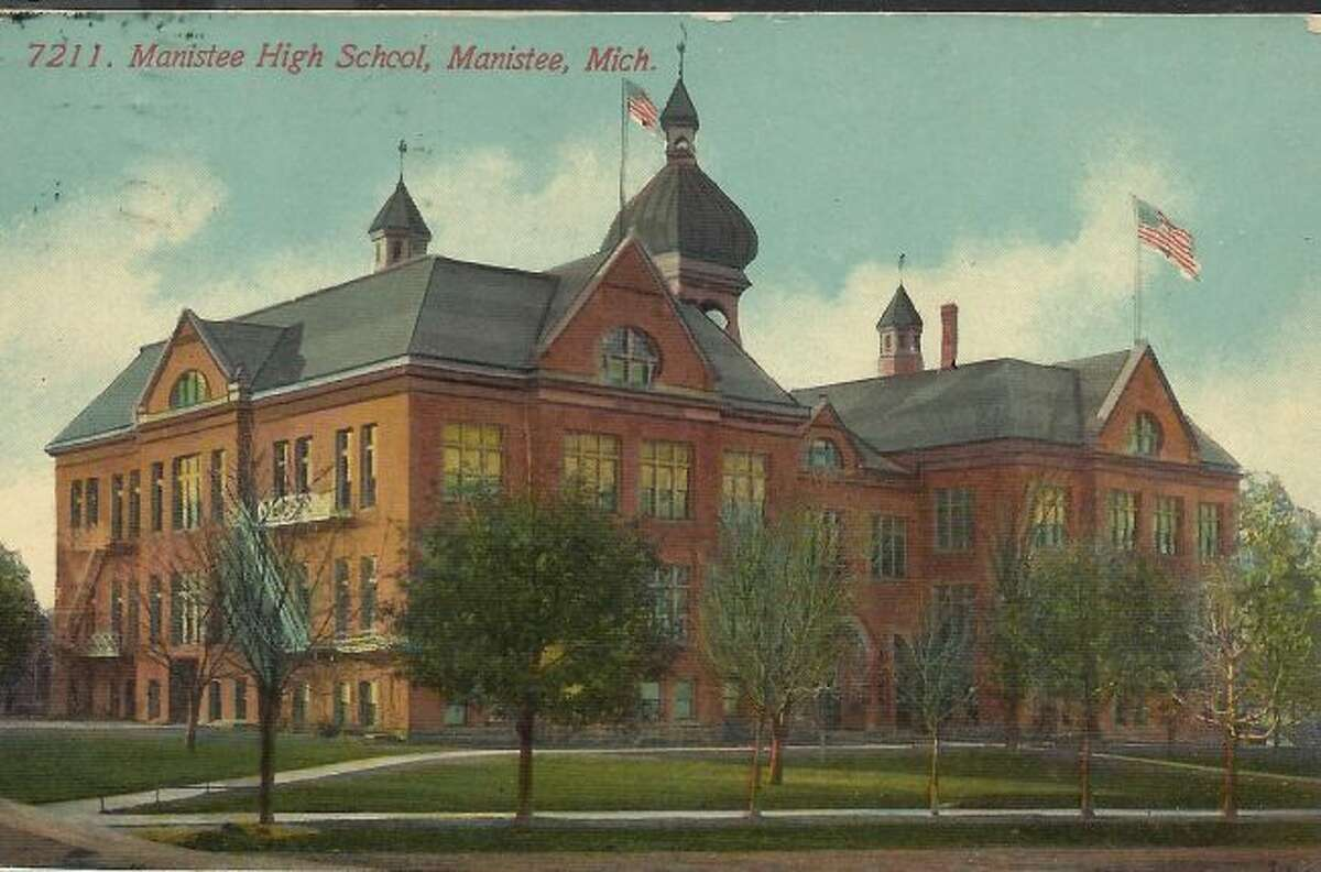 This is the building that housed Manistee High School students in the early 1900s.
