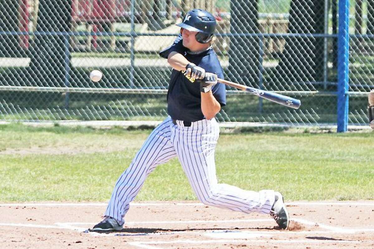 Scott Yoshonis/News AdvocateManistee right-fielder Lucas Richardson, who was voted the Saints' Player of the Year by his teammates, played all 30 games, leading the team in home runs, triples and total bases.