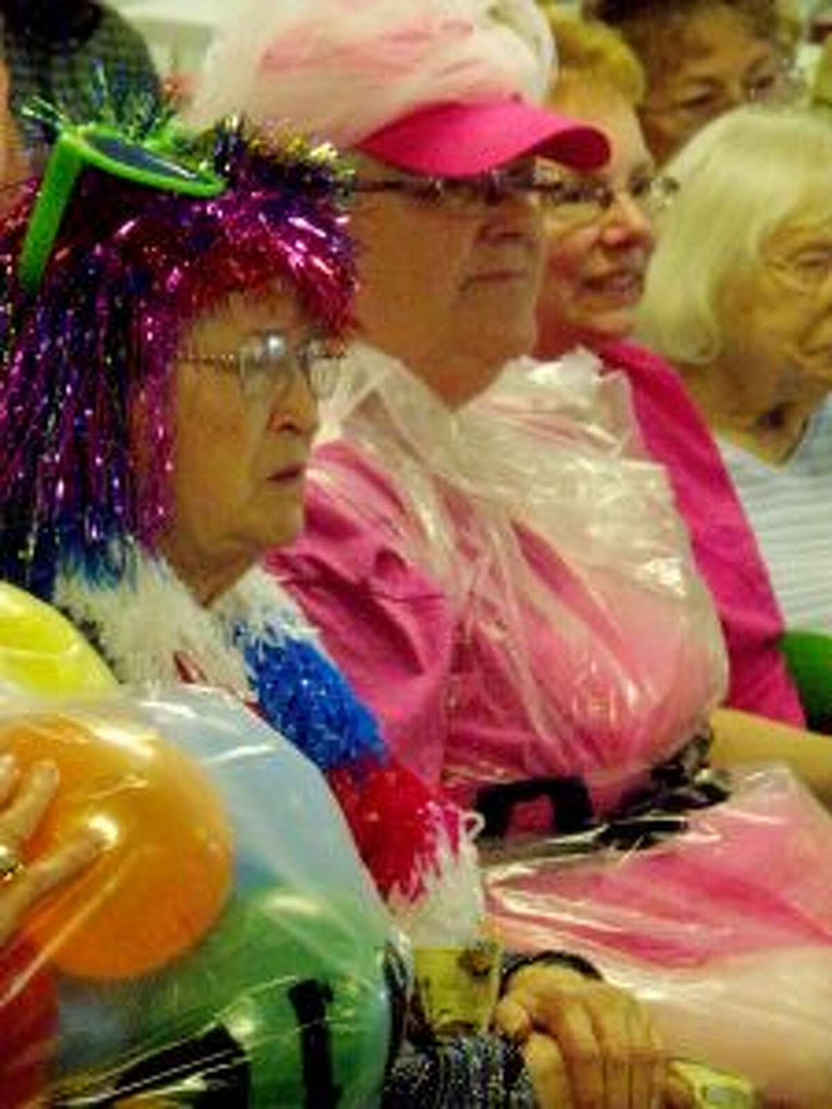 Seniors dressed to the nines for the popular Wheelin' and Dealin' with Johnny O at the Manistee Senior Center this week.