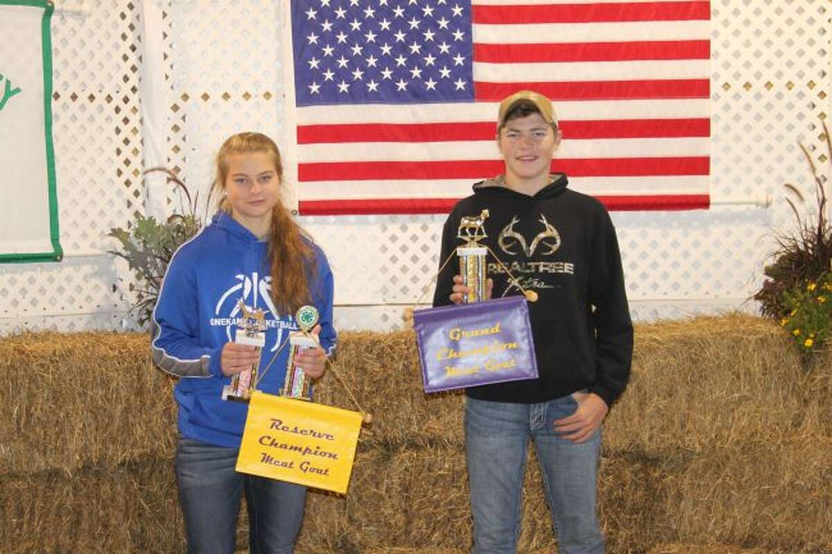 Winners in the goats category were Maggie Domres and Ryan Crawford. (Ashlyn Korienek/ News Advocate)