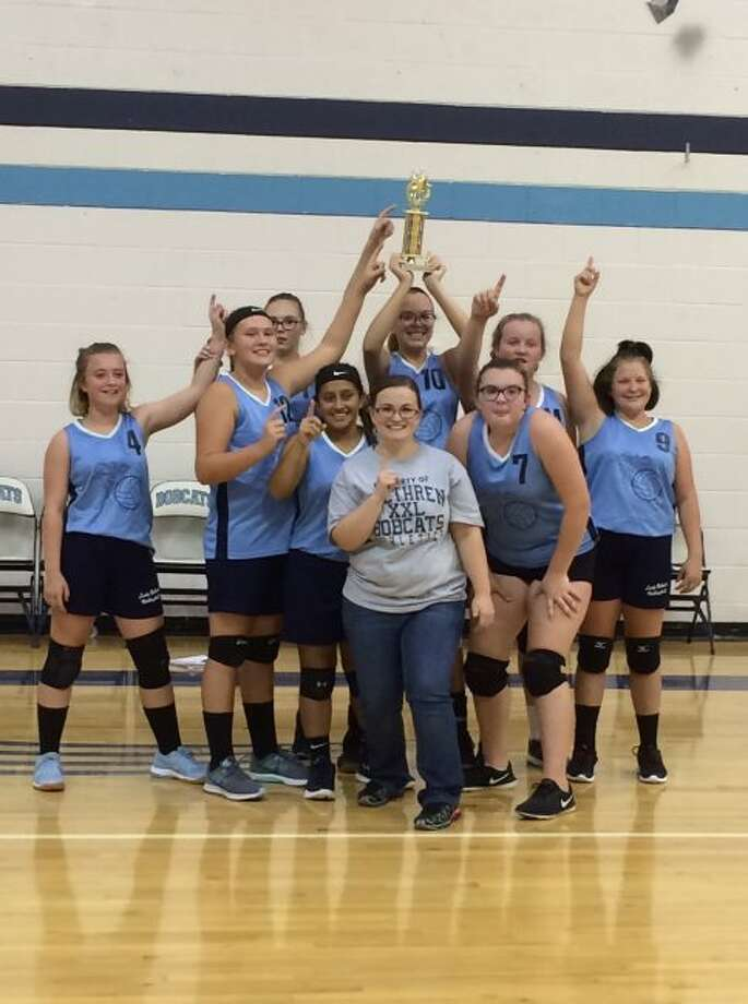 The Brethren eighth grade volleyball team won first place in a tournament they hosted with Ludington, Benzie Central and Bear Lake.