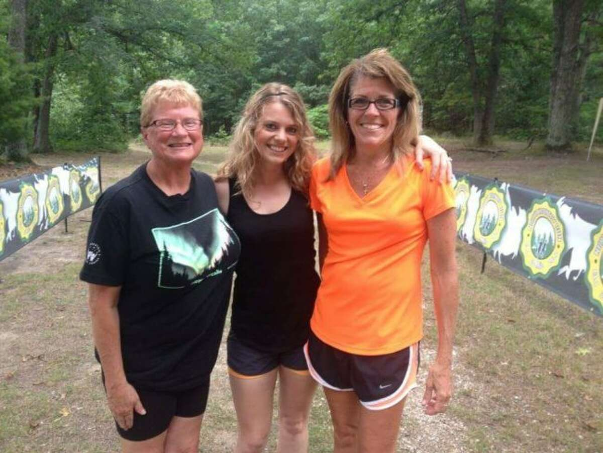 Courtesy PhotoFrom left to right: Sue Straley, Heather Kolanowski and Julie Modjeski of Manistee after the 2015 North Country Run.