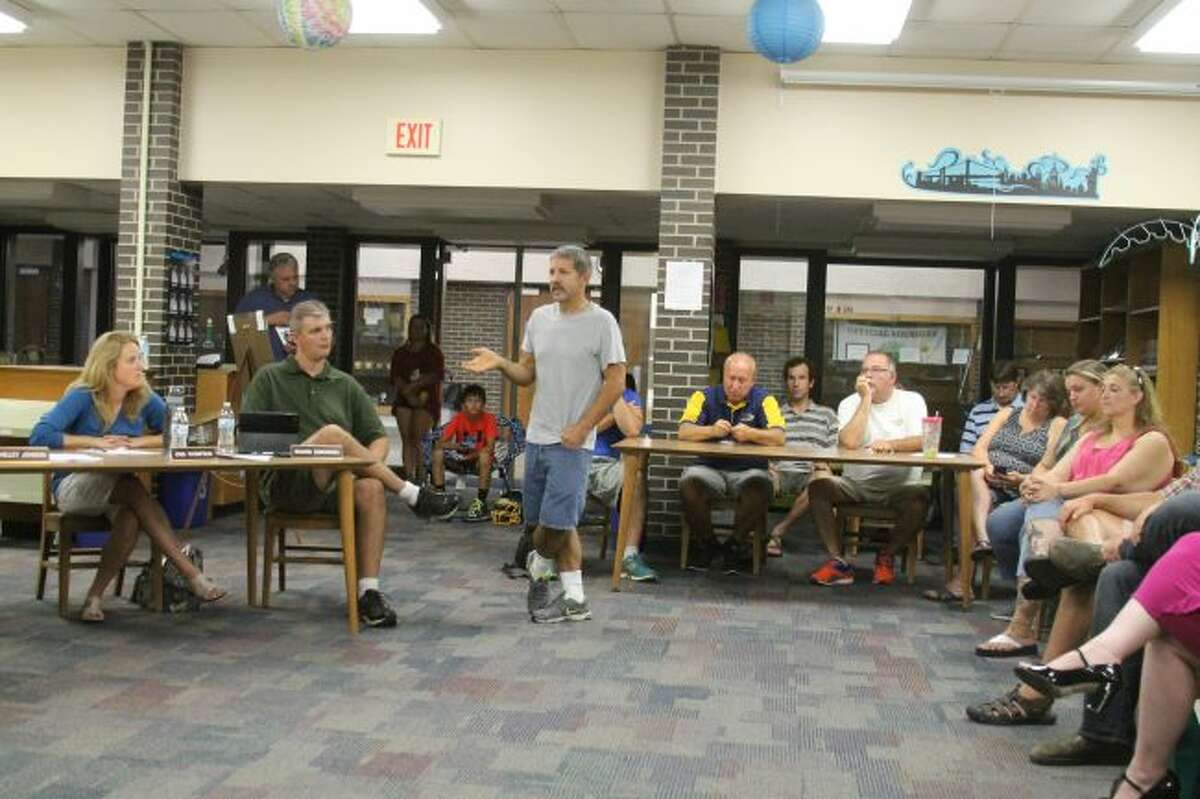 Twenty people spoke up during the public comment period at the Manistee Area Public Schools Board of Education Meeting on Wednesday in support of wrestling coach Chris Codden. An investigation is taking place with Codden for recruiting violations with the Michigan High School Athletic Association on the matter.