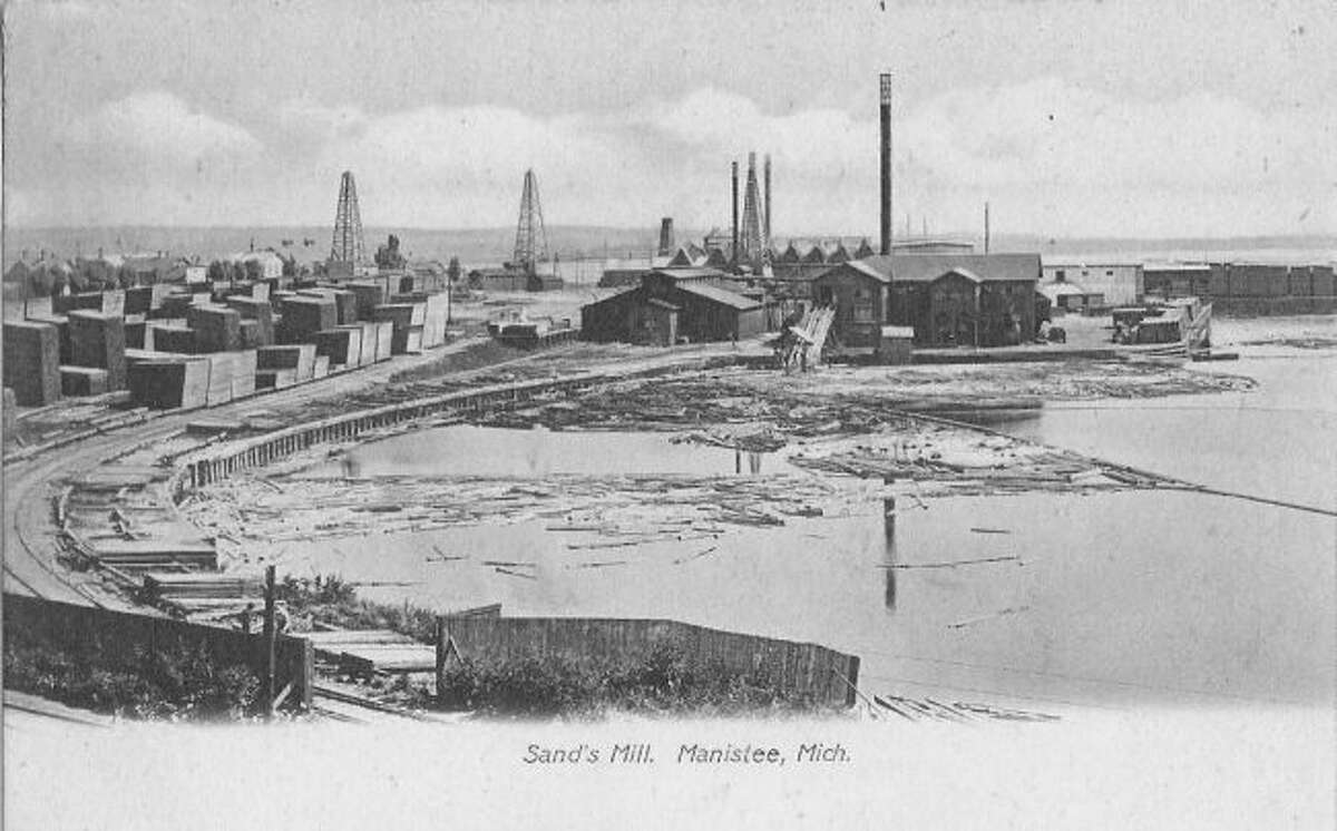 The Louis Sands Lumber and Salt plant was one of Manistee's largest in the 1890s at its location on Manistee Lake.