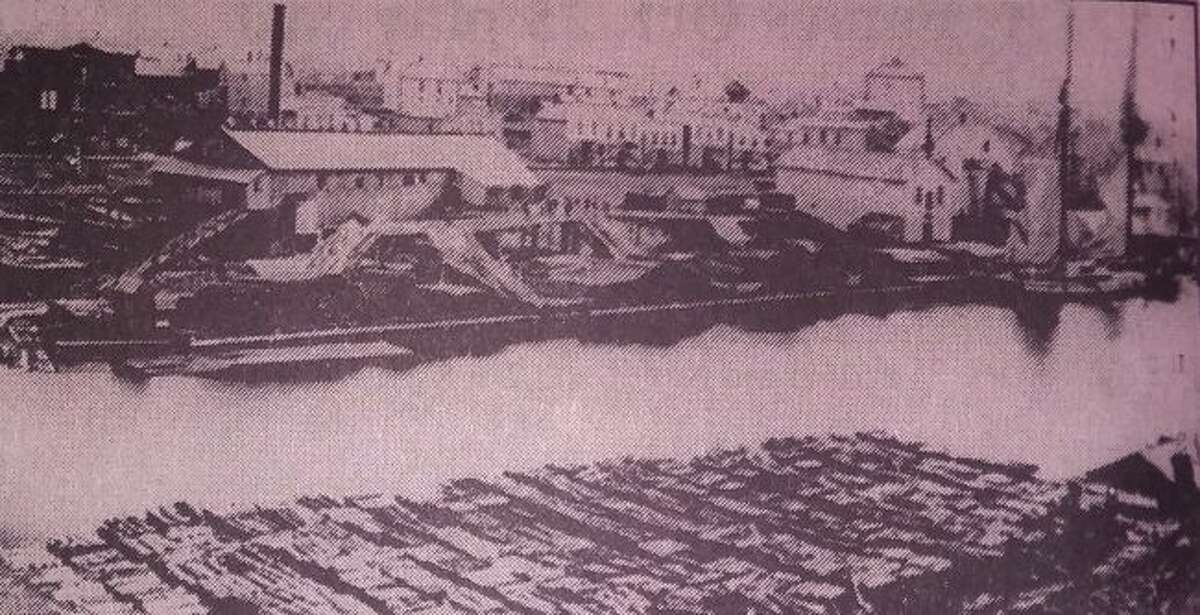 Manistee as it appeared around the time of the Great Fire.