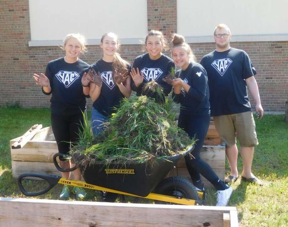 The 2017-18 YAC members assisted the Armory Youth Project with preparing their garden beds for the summer growing season as one of its service projects.
