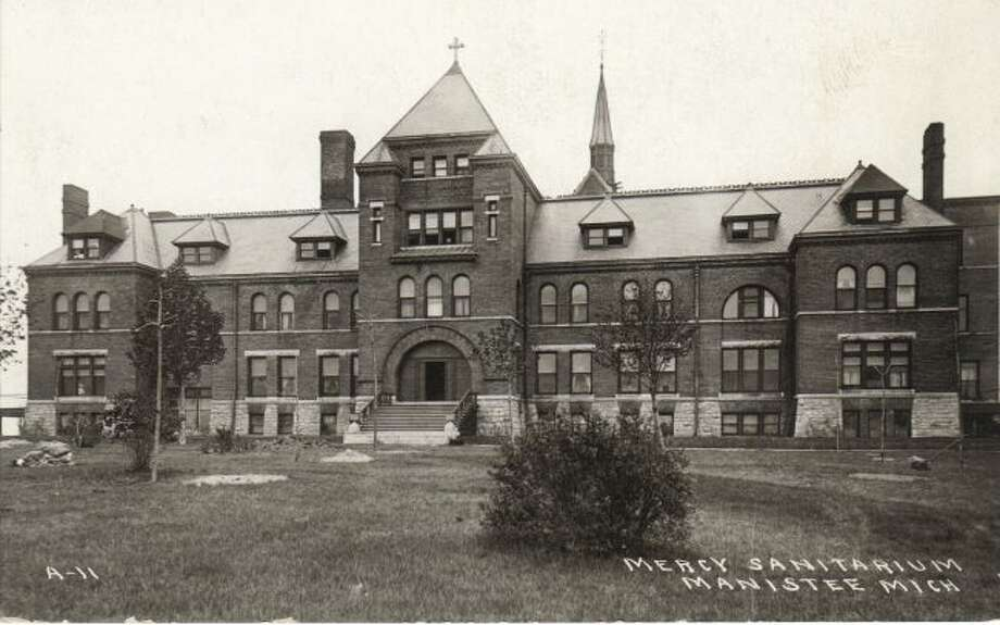 The Mercy Hospital that was located in Manistee is shown in this photograph from the early 1900s.