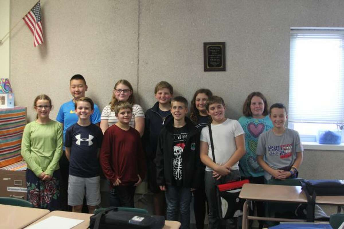 Members of the new Manistee Middle School Youth in Government group are shown in this photograph. They will be going to Lansing Nov. 18-20 to participate in the program.