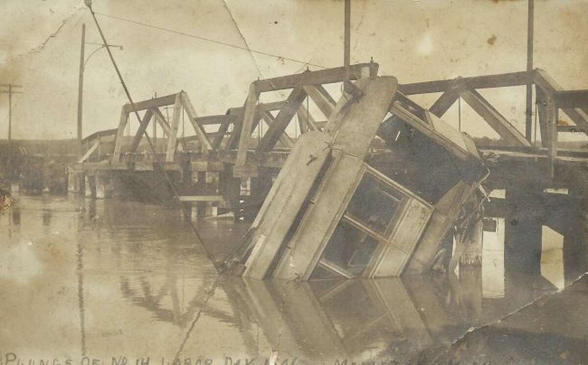 Street car crashes were not that uncommon in the early 1900s in Manistee, but not many were dramatic as this one that went off a bridge.